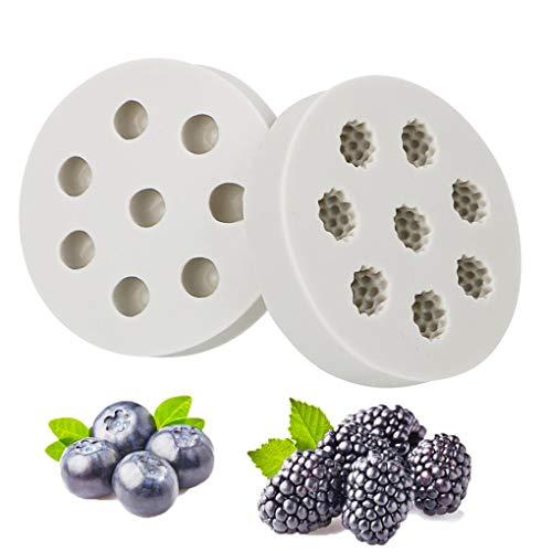 Forme Blueberry Framboise 3D Moule en Silicone Chocolat pâtisserie Outil de Bricolage de décoration de gâteau Moule de Cuisson Sugarcraft Outil