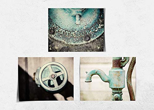 Lisa Russo Fine Artteal Industrial Style Bathroom Or Laundry Room Decor Set Of 3 Prints Not Framed Aqua And Grey Pittsburgh Bath Wall Art 5x7 8x10 11x14 Or 16x20 Fbm3l Dailymail
