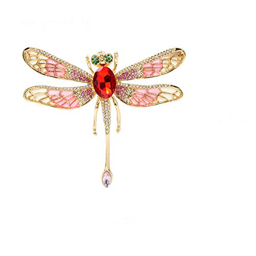New Arrival Very Large Enamel Dragonfly Brooches For Women Rhinestone Fashion Insect Pin Beautiful Jewelry Gift