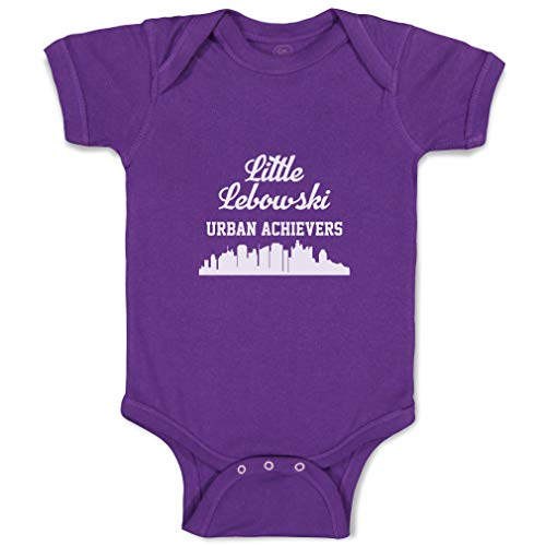 Cute Rascals Baby Bodysuit Little Lebowski Urban Achievers Funny Cotton Boy & Girl Baby Clothes Purple Design Only 18 Months