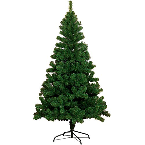 7.5foot- Premium Spruce Hinged Artificial Christmas Tree w/Easy Assembly, Metal Foldable Stand, Green