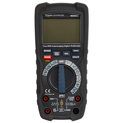 AmazonCommercial – Digitalmultimeter, 6000 Counts, IP67, True RMS, CAT IV 600 V