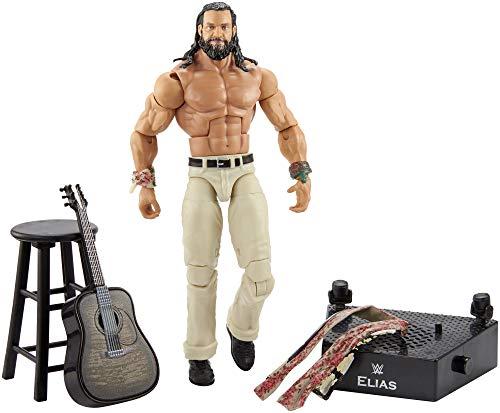 Mattel GCM99 - WWE Entrance Greats 15 cm große Elias Actionfigur mit Zubehör, Spielzeug ab 8 Jahren