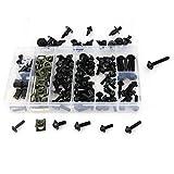 MUJUN Reserve for BMW S 1000 R S1000RR HP4 R1200RS G310R S1000XR R1150R R1200R CNC Aluminium kompletter voller Verkleidung Schrauben Kit Schrauben Muttern Clips (Color : Black)