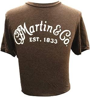 Martin Guitars Basic Logo Tee Shirt - Small Brown