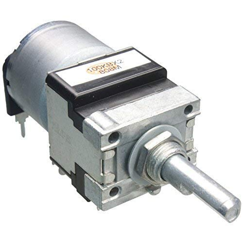 ALPS 100K linear mit Motor stereo RK16812MG Dreh-Poti 100KBx2 Ohm Drehpotentiometer Potentiometer Poti mit Motor motorisiert Motorpoti Motorpotentiometer RK16812MG099