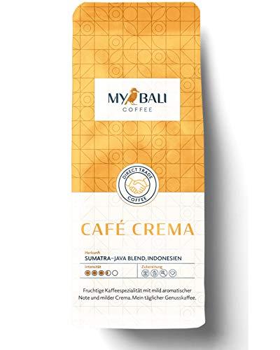 MYBALI COFFEE ® Kaffee Crema Ganze Arabica Kaffeebohnen (1kg) Fruchtige Kaffeespezialität Mit Milder Note -Ihr Täglicher Genusskaffee
