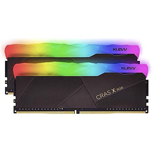 KLEVV CRAS X RGB 16GB kit (8GB x2) 3600MHz Gaming Memory DDR4-RAM XMP 2.0 High Performance Overclocking