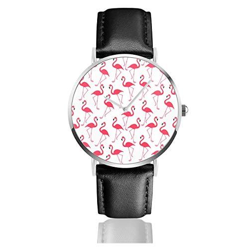 Volle Flamingo Tapeten-Hintergrund gratis Foto öffentliche Bilder Lederarmband Armbanduhr Casual Classic Edelstahl Quarz Business Uhr