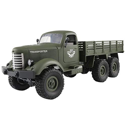 Happy Event jjrc Q60RC 1: 162,4g, mando a distancia 6WD Seguimiento Off-Road Militar Camiones Auto RTR, Verde