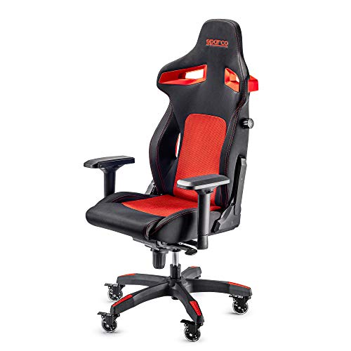 Sparco Gaming 00988NRRS Bürostuhl, Schwarz/Rot
