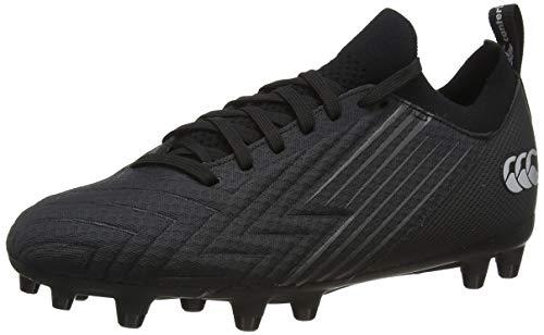 Canterbury Men's Speed 3.0 Pro Firm Ground Rugby Shoe, Black Dark Grey Light Silver, 9 UK