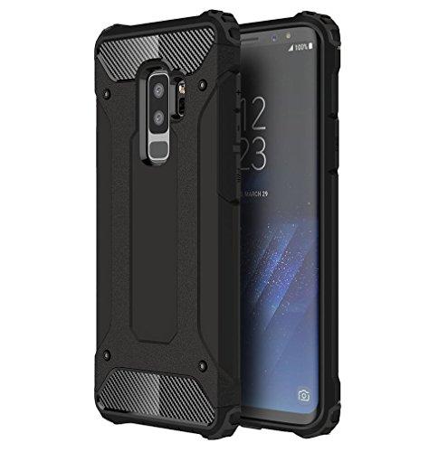 Samsung Galaxy A6 plus 2018 Hülle, XIFAN Rugged TPU / PC Hybrid Armor, Anti-Scratch PC Rückwand Schale + Shockproof TPU Stoßfänger, Doppelschichter Schutz Schutzhülle, Schwarz