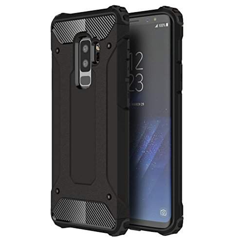 Samsung Galaxy A6 plus 2018 Hülle, XIFAN Rugged TPU / PC Hybrid Armor, Anti-Scratch PC Rückwand Schale + Shockproof TPU Stoßfänger, Doppelschichter Schutz Schutzhülle, Schwarz