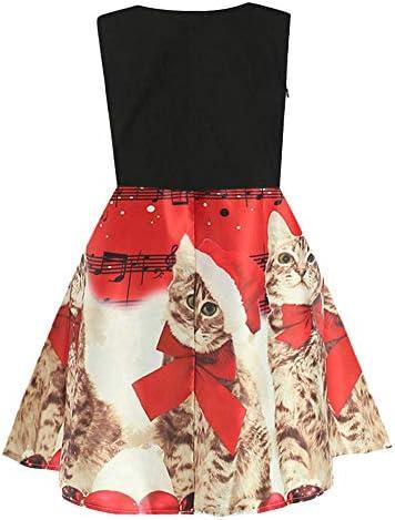 Riou Weihnachtskleid M/ädchen Prinzessin Lang /Ärmellos Weihnachten Kinder Baby Tutu Mini Elegant Ballkleider Abendkleid Elegant f/ür Hochzeit Party Outfits Kleidung Set
