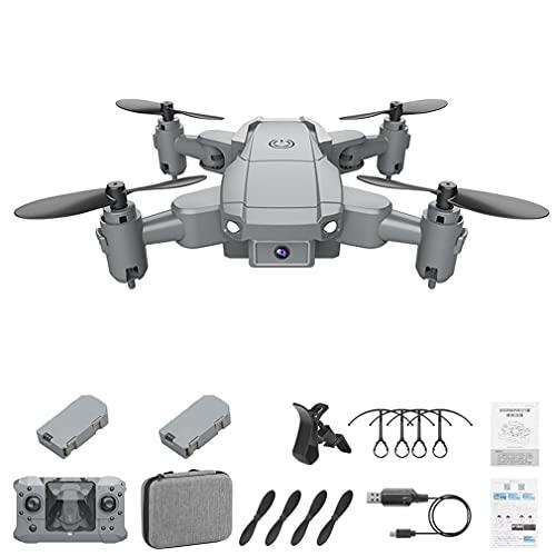 KY905 Mini Drone con Fotocamera 4K FPV Pieghevole 4CH 6 Assi Droni Quadcopter Grigio 2*batterie