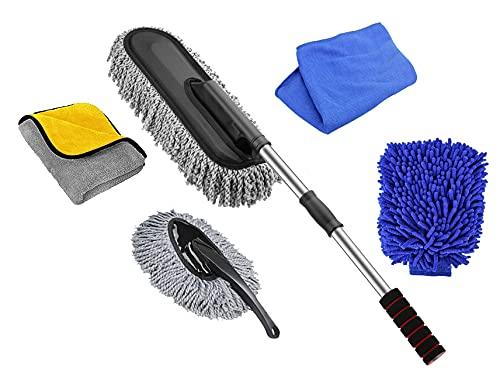 Car Duster -The Best Microfiber Multipurpose Duster -Home Interior Use-Professional Detailing Tool-Comfort Handle
