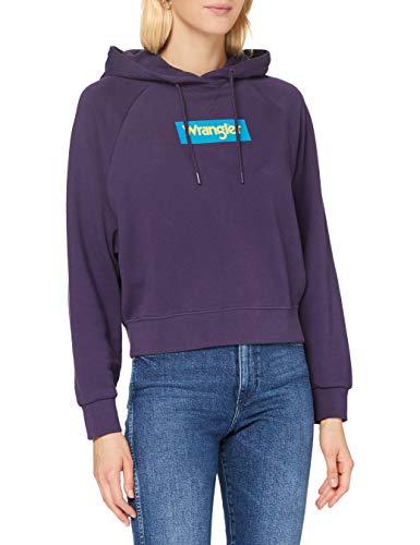Wrangler 80S Hoody Sudadera con Capucha, Purple Velvet, L para Mujer