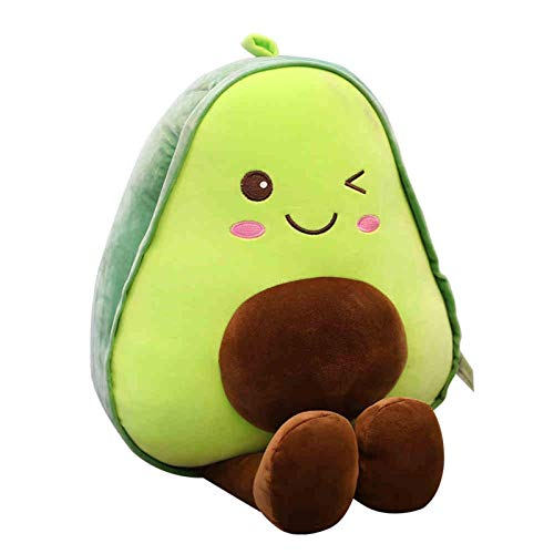 Gästehung Riesige Avocado Plüschtier, eine 30cm Avocado-Puppe für freie, niedliche Kissen Grüne und braune Kissen Puppe Weiche Kuschelküche Spielzeug Huggable Gefüllte Chrismas Geburtstagsgeschenk 319