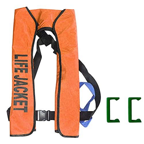 NYWENY Chalecos Salvavidas para Adultos, Chaleco Salvavidas súper Flotante Totalmente automático, Chaleco con cinturón Ajustable para Deportes acuáticos