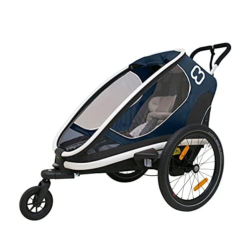 Hamax Outback One Seat Reclining Multi-Sport Child Bike Trailer + Stroller (Jogger Wheel Sold Separately) (Navy/White)