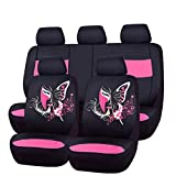 CAR PASS 11PCS Insparation Butterfly Universal Fit Car Seat Covers Set...