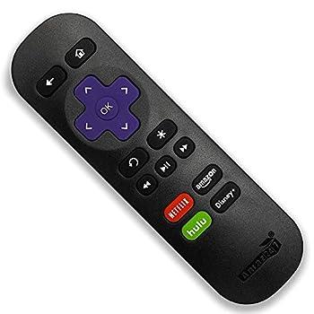 Amaz247 Standard IR Replacement Remote for Roku 1 2 3 4  HD LT XS XD  Roku Express Roku Premiere Roku Ultra w/Disney+ Netflix Prime Video and Hulu Channel Shortcut Buttons