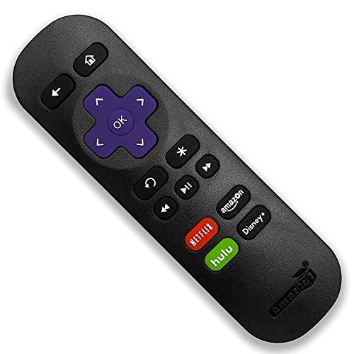 Amaz247 Standard IR Replacement Remote for Roku 1, 2, 3, 4 (HD, LT, XS, XD), Roku Express, Roku Premiere, Roku Ultra NO TV Power Button NO TV Volume Button