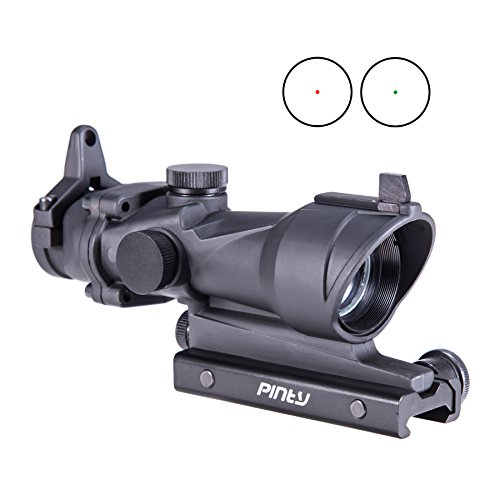 Pinty 1X32mm Tactical Holographic Illumination Project Red & Green Dot Riflescope Sight with 20mm Mount