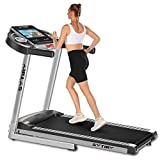 """SYTIRY Treadmill with Large 10"""" Touchscreen and WiFi Connection, YouTube, Facebook and More, 3.25hp Folding Treadmill, Cardio Fitness Exercise Machine for Walking/Jogging/Running"""