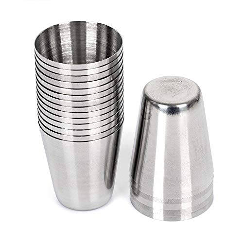Shot-Gläser, 30 ml, Edelstahl, 50 Stück
