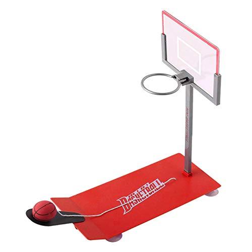 Enjoyyouselves Mini juego de baloncesto plegable, portátil, juguete de tiro de baloncesto, divertido juguete deportivo para viajes o oficina