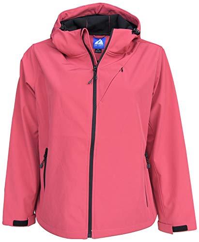 Snow Country Outerwear Women's Plus Size 1X-6X Micro Fleece Soft Shell Jacket Coat (4X, Grapefruit)