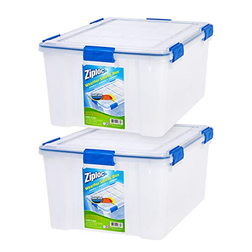 IRIS USA, Inc WSB-LD Storage Box, 60 Quart, Clear, 2 Pack