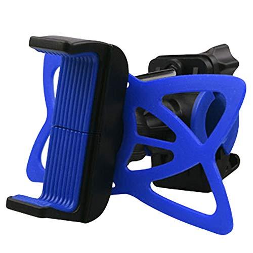 SJMLP Handyhalter Heißer Fahrrad Lenker Rack multifunktionale rennrad Halter im kleinkasten MTB Motorrad silikon unterstützung für Handy, blau