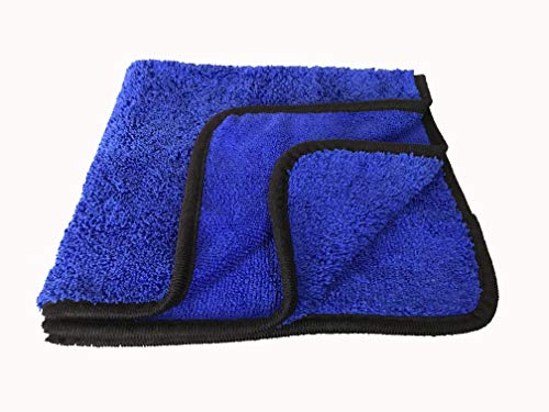 Topteck Signature Car Care Toalla de secado de microfibra súper absorbente kit de limpieza de coche kit de lavado de coche accesorios de coche (45 cm x 45 cm)