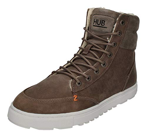 Hub Dublin L47 Thumper Leather Suede Grey White 44
