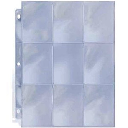 20 Count Pack 9 Pocket Page Protectors by Max Pro