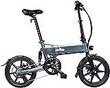 FIIDO D2S - Bicicleta eléctrica plegable de 16 pulgadas, batería de bicicleta eléctrica recargable, plegable, velocidad máxima de 25 km/h, unisex