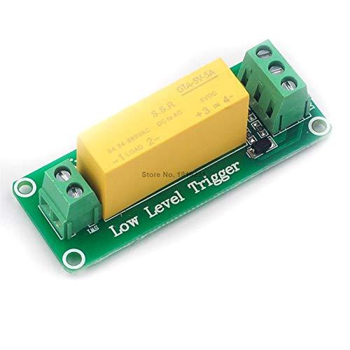 CCJW 1-Kanal-DC 5V 220V 5A SSR Solid State Relais-Modul Low-Level-Trigger for Arduino ONE Schalttransistor Vorstand