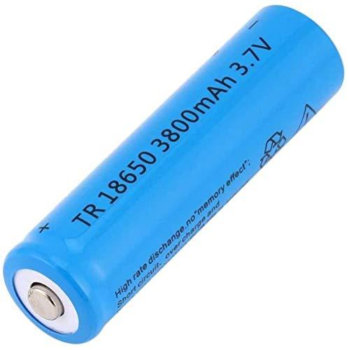 Batería Recargable Li-Ion 18650 3.7V 3800mAh Batería de GIF de Gran Capacidad para Linterna LED Iluminación de Emergencia Dispositivos electrónicos, etc. 4/8 Piezas (Azul)-3 Piezas