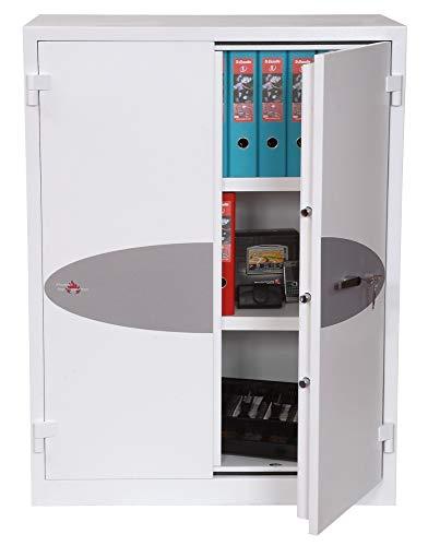 Phoenix FS1652K - Caja fuerte (Caja fuerte empotrada en el suelo, Blanco, Llave, 346 L, Piso, 2 estanterías)