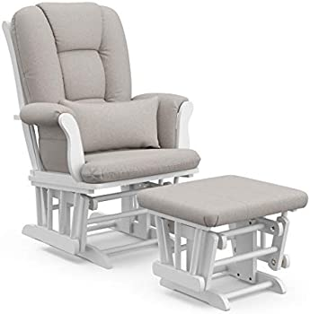 Storkcraft Tuscany Custom Glider and Ottoman with Free Lumbar Pillow