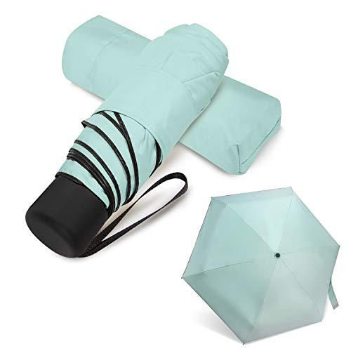 Mini Travel Umbrella Lightweight Small Compact Women Umbrellas for Sun Rain...