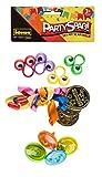 Idena-Set de Fiesta con 12 artículos, 4 peonzas, 4 medallas Doradas y 4 Anillos para los Dedos en Colores de Moda Berlin 40439