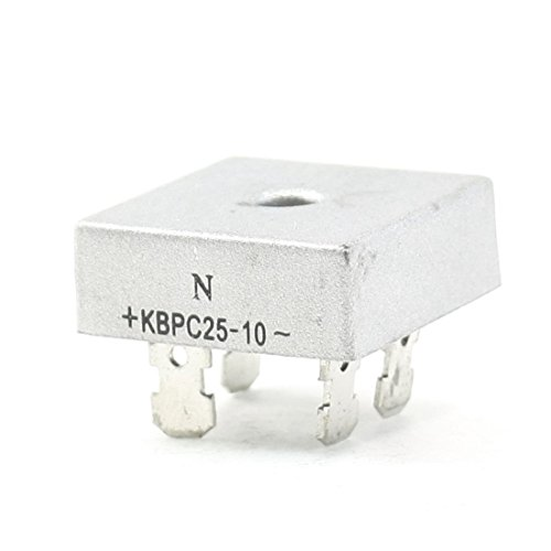KBPC25-10 1KV 25A monofásico puente rectificador de media onda tono Plata