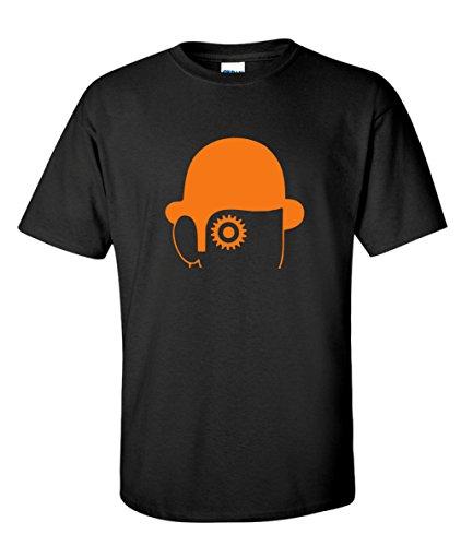 Clockwork Orange Hat Cult 70s Movie Black T-Shirt (Medium)