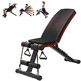 LJBOZ Banco de Musculacion Plegable, Multiposición, para Ejercitar Todo el Cuerpo Ideal para Entrenamiento de Fitness, Banco de Pesas