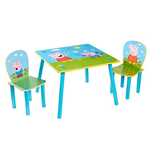 Peppa Pig Set aus Tisch und 2 Stühlen für Kinder 45 63 Maße eines aufgebauten (Annäherungswerte): 29,5 (B)x 52,5 (H)x 29cm (T)
