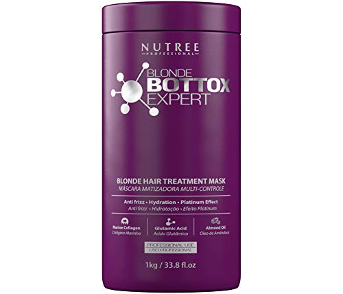 Hair Bottox Expert Thermal Purple Mask - Contains Marine Collagen and Almond Oil - Formaldehyde-Free...